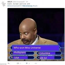 Meme Steve - steve harvey s colossal miss universe gaffe sets off meme