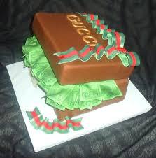 edible money fondant present cake of edible money with designer label view