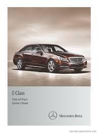 mercedes benz e class wagon 2013 w212 owner u0027s manual