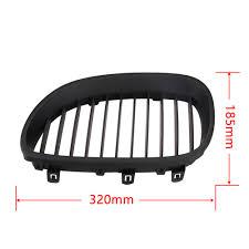 2x black front wide bumper kidney grilles grill for bmw e60 e61 m5
