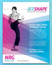 fitness flyer template fitness magazine template