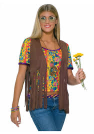 60s Halloween Costumes Hippie Fringe Vest Hippies 60s Halloween Costumes