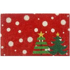 entryways christmas trees 17 in x 28 in non slip coir door mat