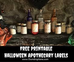 Printable Halloween Drink Labels by Free Printable Halloween Apothecary Jars U2013 Gumdrop Lane Inc