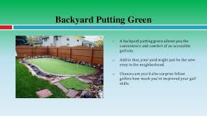 Putting Green Backyard by Improve Your Golf Game With A Backyard Putting Green