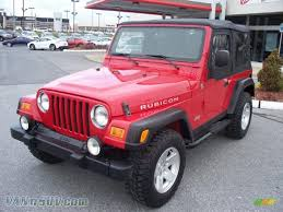 jeep wrangler red 2006 jeep wrangler rubicon 4x4 in flame red 709691 vannsuv com