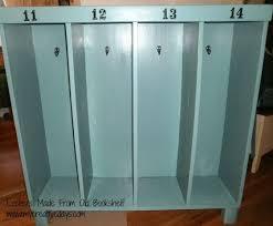 diy kids lockers bookcase turned to kid lockers lockers kids s and organizing