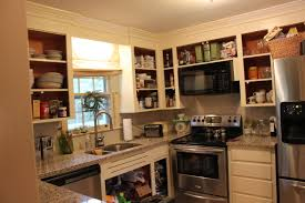 kitchen kitchen bookshelf open cabinet shelving overhead kitchen