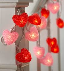 valentines day lights heart string lights s day decor hearthsong