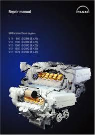 man marine diesel engine v12 1360 d 2842 le 423 service repair manu u2026