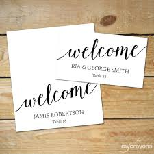 editable place card templates diy wedding cards black and white