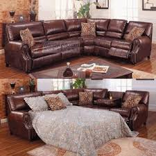Sectional Sofa With Sleeper And Recliner Leather Reclining Sectional Sofa Bed Catosfera Net