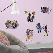 disney descendants animated peel and stick wall stickers