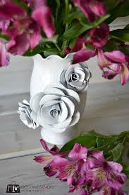 Make Flower With Paper - create a decorative flower vase with paper how to make a