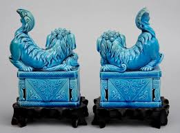 turquoise foo dogs for sale product turquoise foo dogs on stands circa 1900