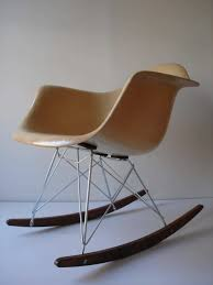 charles eames style white rar rocker chair modern chairs cult uk