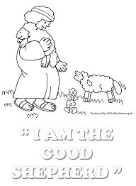 jesus the good shepherd coloring pages coloring page