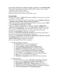 chemist resume objective trend laboratory skills for resume 28 on sample of resume with