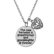 grandmother and granddaughter necklaces granddaughters luvalti