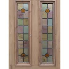 bullseye glass door sd057 victorian original 4 panel exterior door with soft colour