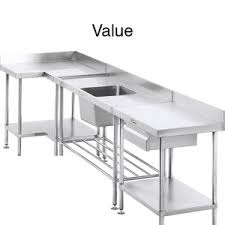 Stainless Steel Kitchen Bench Stainless Steel Benchtops Clic Stainless Steel Australia Workbenches Tables Sinks Shelves