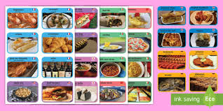 food from around the world cards food