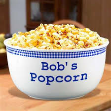 personalized bowl quart personalized popcorn bowl is a family gift or gift