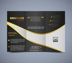 tri fold brochure ai template brochure template trifold checkered design free vector in