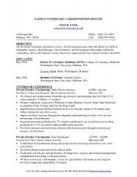 Veterinarian Resume Sample by Examples Of Resumes 87 Exciting Professional Resume Samples For