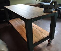 Rolling Work Bench Plans Garage Workbench Super Workbench Top Mobile And Bowling Rolling