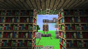 minecraft how to build a hidden door in a bookshelf youtube