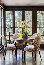 zebra chair convention los angeles traditional dining room image