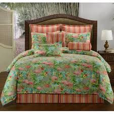 Tropical Comforter Sets King Delectably Yours Com Pink Flamingos Tropical Bedding Collection