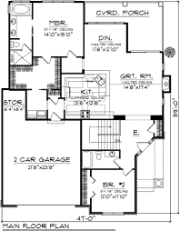 neoteric 13 2 bedroom bath car garage house plans one level 3