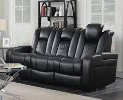 Leather Like Sofa Power Sofa In Black Leather Like Upholstery By Coaster 602301p