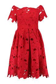 boohoo womens boutique shoulder lace skater dress ebay