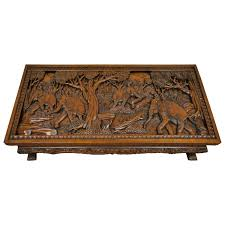 carved wood coffee table carved wood coffee table 20th century vietnamese hand asian low 21