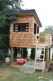 dirt digging sisters diy modern playhouse