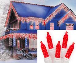 red and white alternating led christmas lights felices pascuas collection set of 70 red led m5 icicle christmas