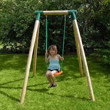 giardino bambini altalena in legno da giardino per bambini 1 posto