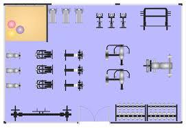 fitness center floor plan plans