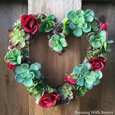 heart wreath succulent heart wreath running with