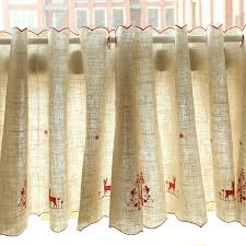 Gold Kitchen Curtains by Online Get Cheap Christmas Kitchen Curtains Aliexpress Com