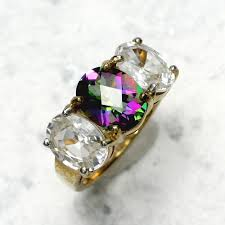 topaz rings prices images Clear mystic topaz ring in 9ct gold jpg