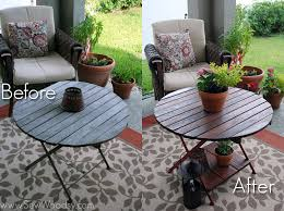 Refinish Patio Furniture by Title U003e Restored Wood Outdoor Table U003c Title U003e Sew Woodsy