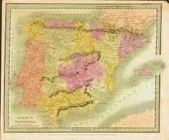 Spain And Portugal Map by Antique Maps Of Spain And Portugal