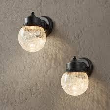 Home Depot Outdoor Led Lights Hampton Bay Sandy Black Outdoor Led Wall Mount Lantern 2 Pack