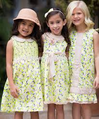 sale summer country style baby girls dresses lemon meringue a