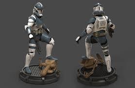 clone trooper wall display armor clone trooper phase ii by camoteguau18 d8fmvnx jpg 1107 722