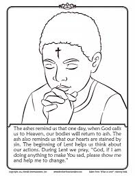 ash wednesday coloring pages eson me